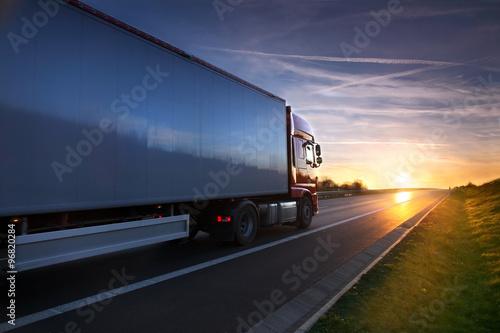 obraz PCV Truck on the road