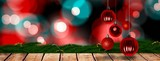 Fototapety Composite image of christmas baubles