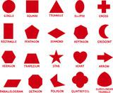 Fototapety education basic geometric shapes