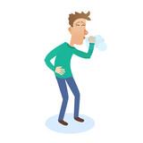 man sneezes