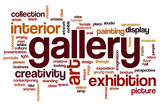 Gallery word cloud concept