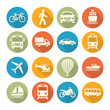 Detaily fotografie Transport set icons