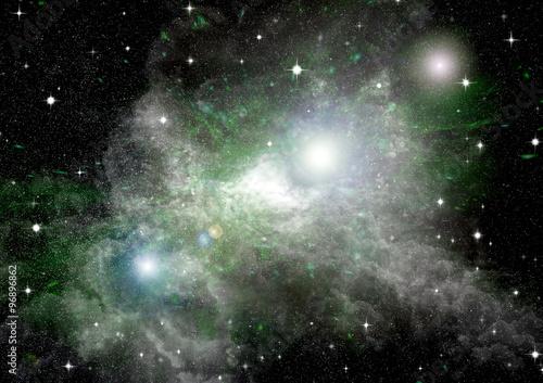 Stars, dust and gas nebula  © marusja2