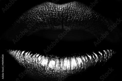 Female lips closeup - 96904028