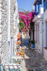 Street in Kythnos island, Cyclades, Greece