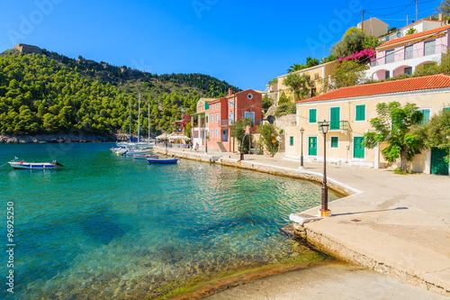 Beautiful port in Assos fishing village on coast of Kefalonia island, Greece © pkazmierczak