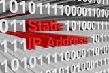 static ip address is represented as a binary code