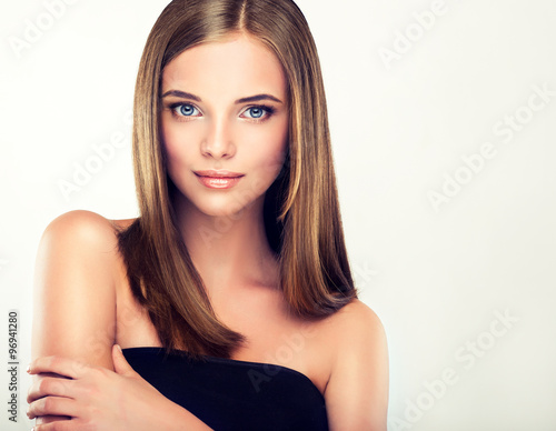 Poszter Girl with brown hair
