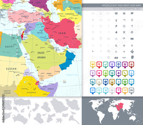 GamesAgeddon - Political Map Of Middle East And Asia With A Square ...