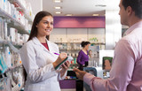 Woman pharmacist at the chemists shop