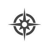 Fototapety Compass icon vector
