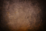 brown grunge background or texture with black vignette borders - 96989613