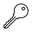 Access key line art icon for apps and website