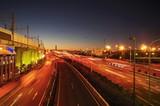 夕方の湾岸道路
