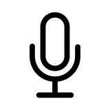 Fototapety Microphone speaker (speech to text) line art icon for apps and websites