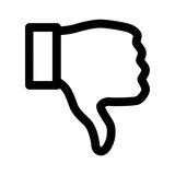 Thumbs down dislike line art icon for apps and websites