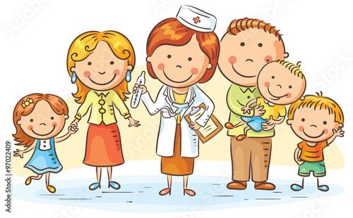 Fototapeta Family doctor