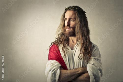 Zdjęcia na płótnie, fototapety, obrazy : Jesus thinking