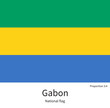 Постер, плакат: National flag of Gabon with correct proportions element colors