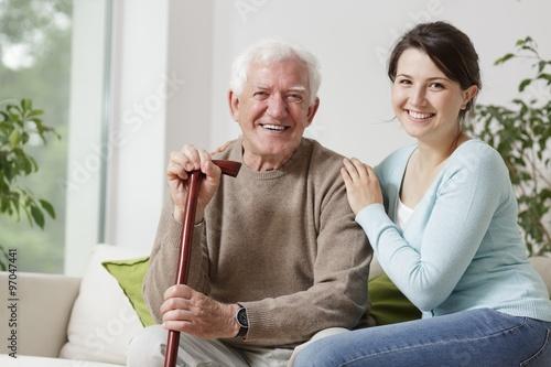 Foto Murales Smiling old man