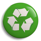 Recycling Green Symbol Isolated on White