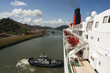 Ships bow in the Panama Canal crossing