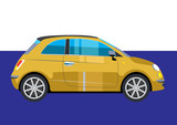 mini modern car vector
