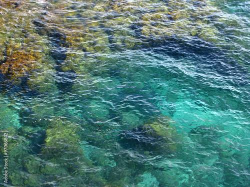 Tuinposter Edelsteen Beautiful sea shore and rocks in Costa Brava (Spain)