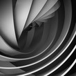 Abstract square digital background with dark 3d spiral