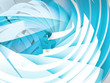 Abstract digital background with blue and white 3d spiral