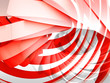 Abstract digital background with red and white 3d spiral