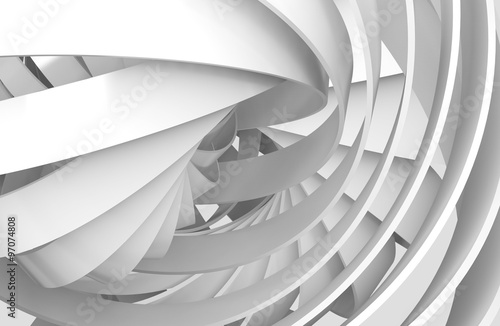 Abstract digital background, 3d spiral structures