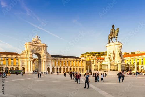 Place du commerce à Lisbonne, Portugal