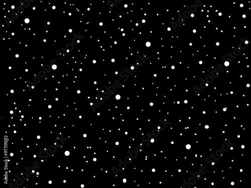 Fototapeta Simple cartoon night full of stars