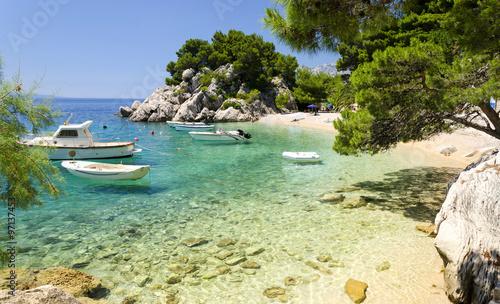 Foto op Canvas Mediterraans Europa beach in Brela to Makarska Riviera, Dalmatia, Croatia