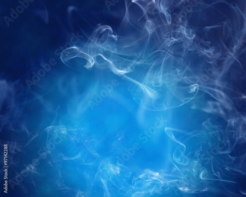 Smoke over blue background - 97142288