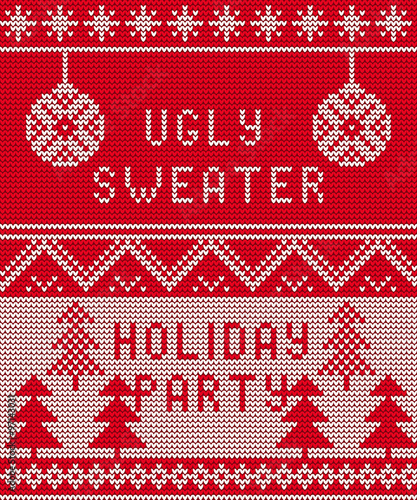 Cotton fabric Ugly sweater Background 1
