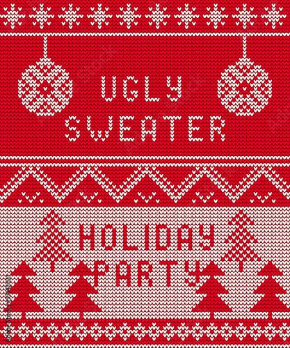 Materiał do szycia Brzydki sweter tło 1