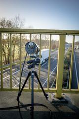 Verkehrssicherheit - Videokamera zur Abstandsmessung , Autobahn
