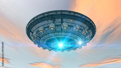 Naklejka 3d futuristic UFO