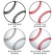 Various Vector Baseballs