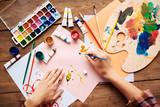 Artist painting - 97175412