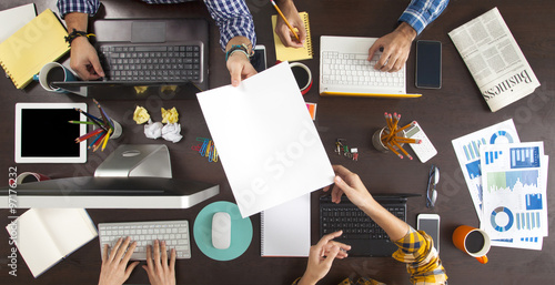 Business People Working on an Office Desk