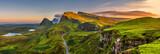 Quiraing mountains sunset at Isle of Skye, Scottland, United Kingdom - Fine Art prints