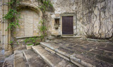 Vintage trujillo stone facade and stairs