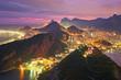 Quadro Night view of Rio de Janeiro, Brazil