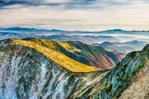 Fototapeta Sunset in the mountains