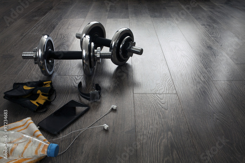 Wall mural equipment for fitness