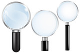 Transparent Magnifying glass.