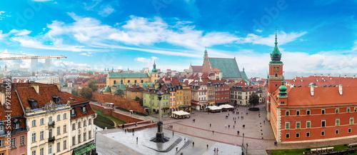 obraz PCV Panoramic view of Warsaw